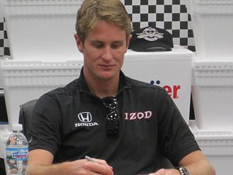 Ryan Hunter-Reay - Hunter-Reay in 2010 at an autograph signing.