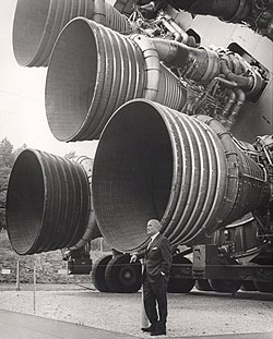 Wernher von Braun and Saturn V rocket