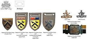 Regiment President Steyn - SADF era Regiment President Steyn insignia