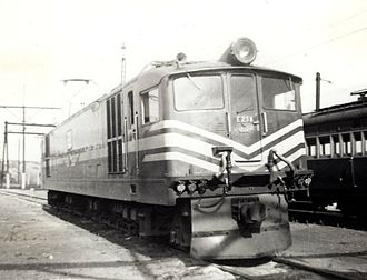 South African Class 4E - No. E238 at the Salt River Depot, Cape Town, 7 January 1966