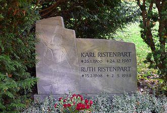 Karl Ristenpart - His grave at the St. Johann cemetery at Saarbrücken