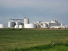 Photographie d'une usine d'éthanol dans le comté de Turner.