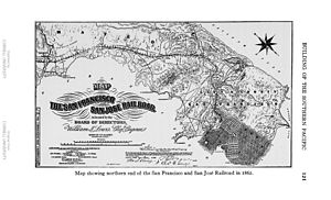 San Francisco and San Jose Railroad - Image: SFSJ Daggett pg 121