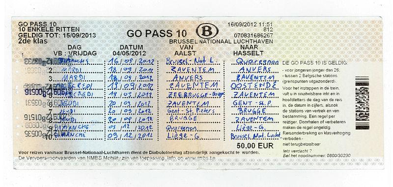 Custo do transporte na Bélgica