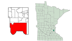 Location in Ramsey County and the state of Minnesota.