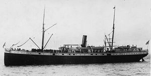 SS Valencia - SS Valencia around 1900, showing much of her original Red D Line profile