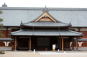 Saga Castle - The reconstructed main keep.