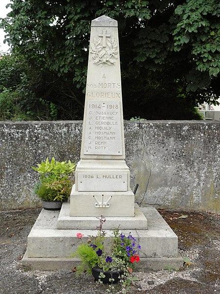 Saint-Remimont (M-et-M) monument aux morts