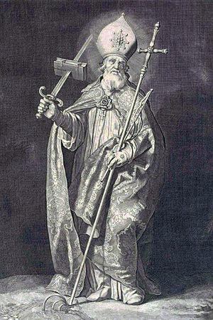 Saint Boniface - Saint Boniface by Cornelis Bloemaert, c. 1630
