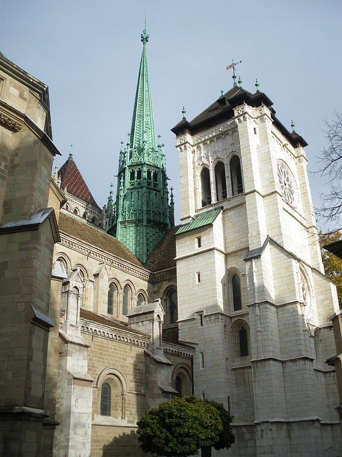 Saint Pierre Cathedral in Geneva is the most i...