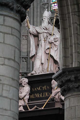 Rumbold of Mechelen - Image: Saint Rumbold arc