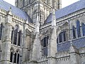 Salisbury Cathedral flying buttresses.JPG