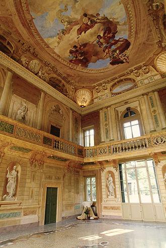Villa Mosconi Bertani - Salone Delle Muse frescos