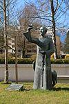 Salzburg - Süd - Franziskus und der Wolf von Gubbio (Eva Mazzucco) - 2014 03 17 (2).jpg