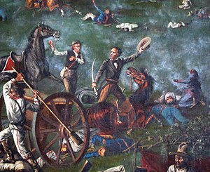 Sam Houston at the Battle of San Jacinto.