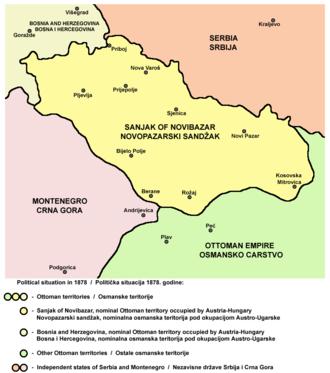 Sanjak of Novi Pazar - Political situation in 1878.