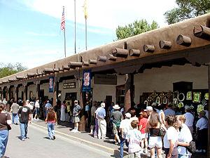 Palace of the Governors - Image: Santa Fe Plaza Market