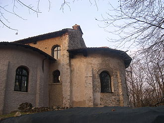 Castelseprio (archaeological park) - The rear of the church, with the apse.