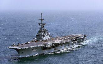Brazilian aircraft carrier São Paulo - São Paulo at sea, December 2013.