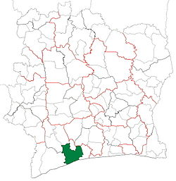 Location in Ivory Coast. Sassandra Department has had these boundaries since 2008.