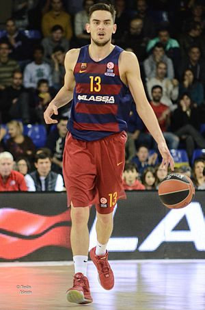 Tomáš Satoranský - Satoranský with FC Barcelona Lassa in 2016.