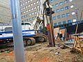 Scanning the excavation of a TTC elevator, median of University at Dundas, 2017 06 06 -c (35012418912).jpg