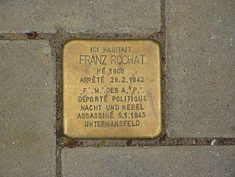 Liberté chérie - Image: Schaerbeek 23 avenue Clays Les pavés de la mémoire