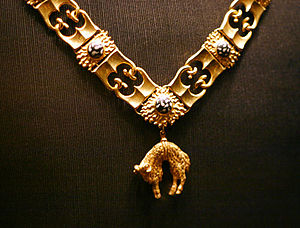 Livery collar - Collar of the Order of the Golden Fleece, shown in the Schatzkammer in Vienna, Austria.