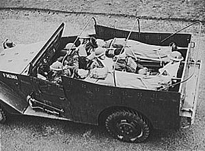 M3 Scout Car - White scout car in use by British as ambulance.