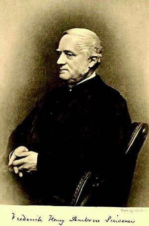 Frederick Henry Ambrose Scrivener - Image: Scrivener