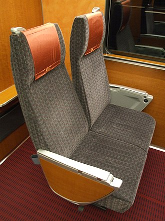 Odakyu 60000 series MSE - Image: Seat of Odakyu Romance Car MSE