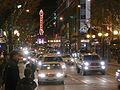 Seattle - Pine St at night Xmas 02.jpg