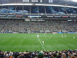 Seattle Sounders FC and Red Bull New York kick-off to start the 2009 MLS season