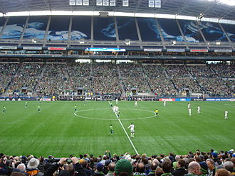 History of professional soccer in Seattle - New York Red Bulls kick-off to start the 2009 MLS season against Seattle