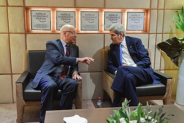 Secretary Kerry Meets With World Economic Forum Founder Schwab Before Delivering Keynote Address at Annual Meeting in Switzerland (24454758641).jpg