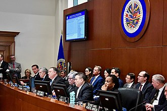 Organization of American States - US Secretary of State Mike Pompeo speaks at the OAS Permanent Council in January 2019