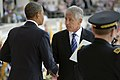 Secretary of Defense Chuck Hagel shakes hands with President Barack Obama (2).jpg