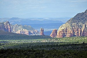 Quick peeks of the Red Rocks of Sedona can be ...
