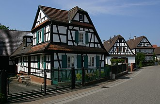 Seebach, Bas-Rhin - Image: Seebach Fachwerkhaus 14 gje