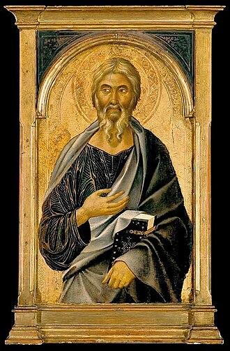 Segna di Bonaventura - Image: Segna di Bonaventura. St John the Evangelist. Metropolitan, N Y