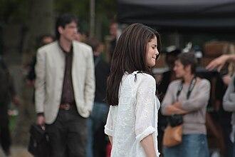 Monte Carlo (2011 film) - Gomez filming a scene on location in Paris, France