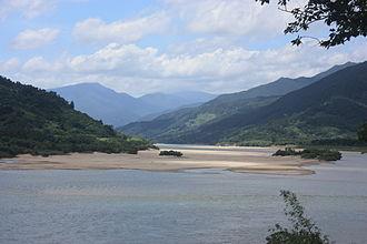 Seomjin River - The Seomjin River near Hadong