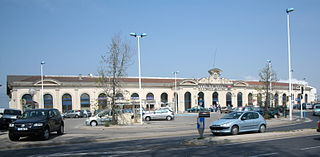 railway station in Sète, France