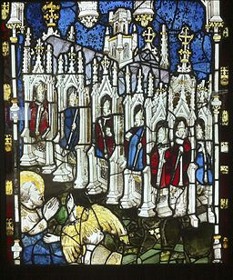 Stained glass at York Minster by John Thornton (fl. 1405-1433).[53]
