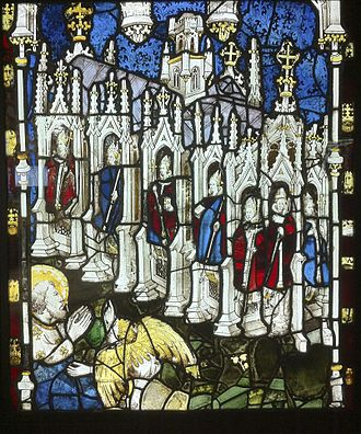 Seven churches of Asia - The seven churches of Asia in stained glass in York Minster by John Thornton