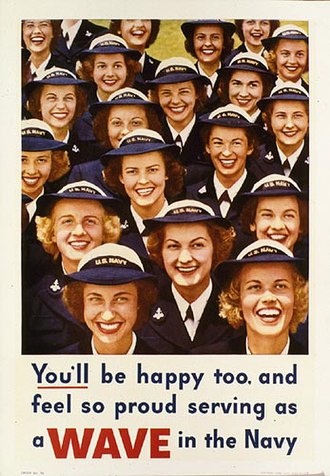 Women in the United States Navy - Image: Seving as a wave