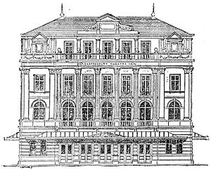 Original Shaftesbury Theatre - Shaftesbury Theatre (from the Pall Mall Gazette, 1888)