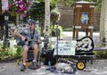 Shecky and Herb, a street musician-dog pair in Breckenridge, Colorado's Blue River Plaza. We're not certain, but we'd guess that Herb is the dog LCCN2015633649.tif