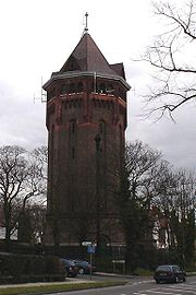 Shooter's Hill water tower is a local landmark; water towers are very common around London suburbs