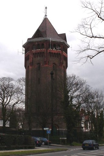 Shooter's Hill water tower is a local landmark in London, United Kingdom. Water towers are common around London suburbs.